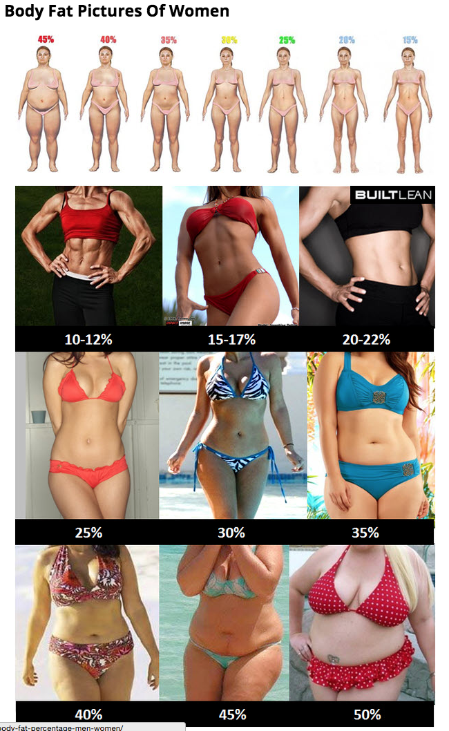 body fat pictures of women