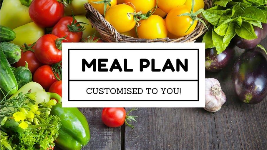 customised meal plan