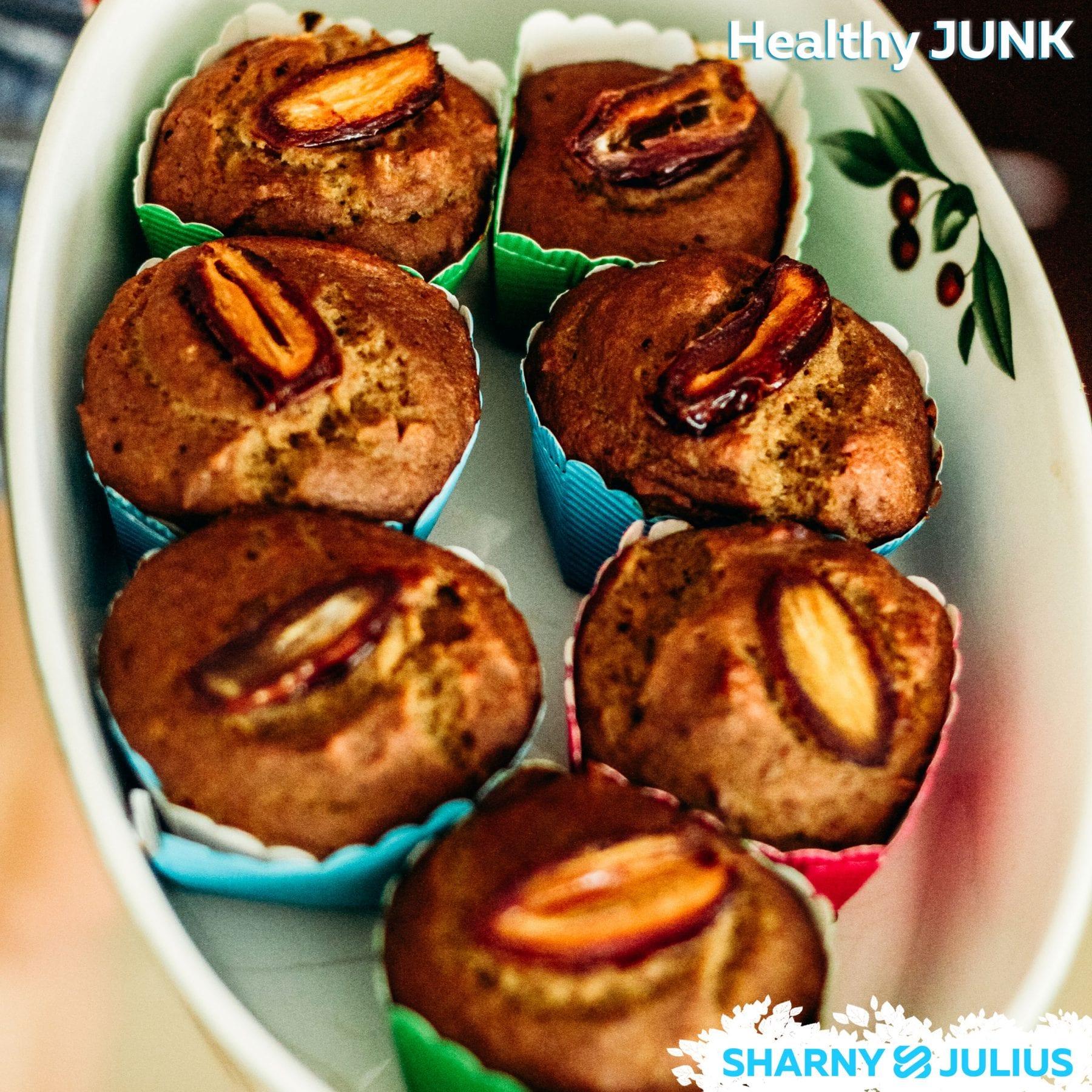 date and banana muffins